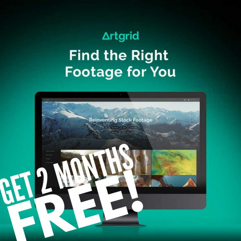 Artgrid discount code – get two months free