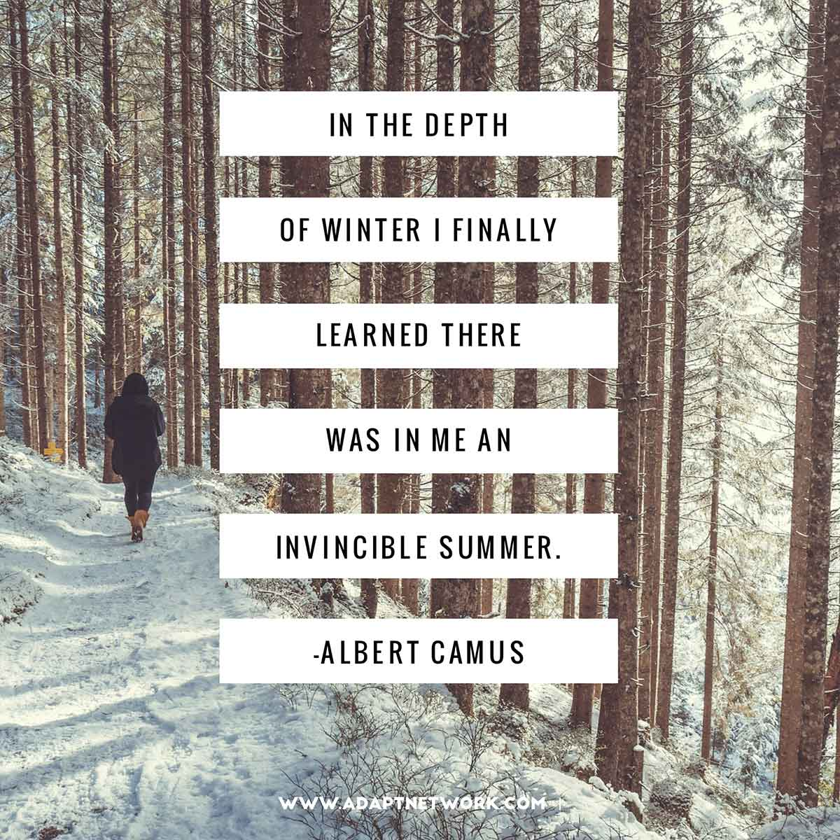 "Albert Camus Summer Quote: ""In The Depth Of Winter I Finally Learned There Was In Me"