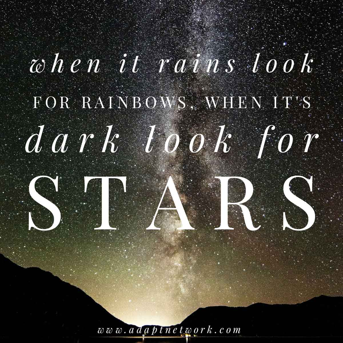 Stars Cant Shine Without Darkness Inspirational Quotes