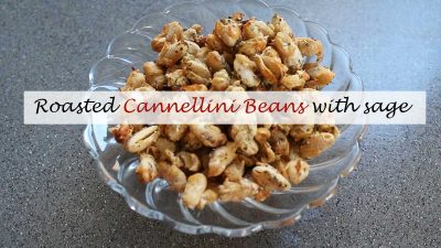Roasted cannellini beans with sage