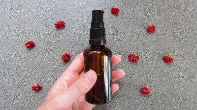 DIY facial oil moisturiser for combination skin