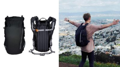 TREXAD: The waterproof foldable backpack with an inflatable back support