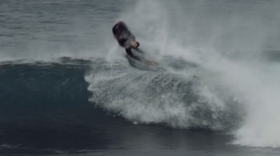 Rob Laurie Bodyboarding In The Desert