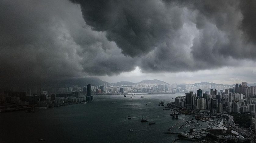 Pre-storm clouds in Hong Kong