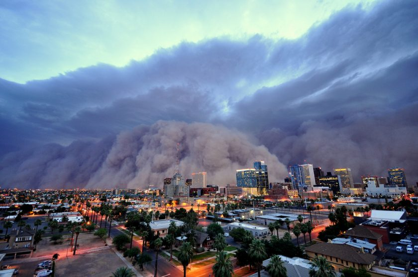 """Haboobs"" are massive dust storms. This one famously hit Phoenix in 2011. Photo via Flickr."