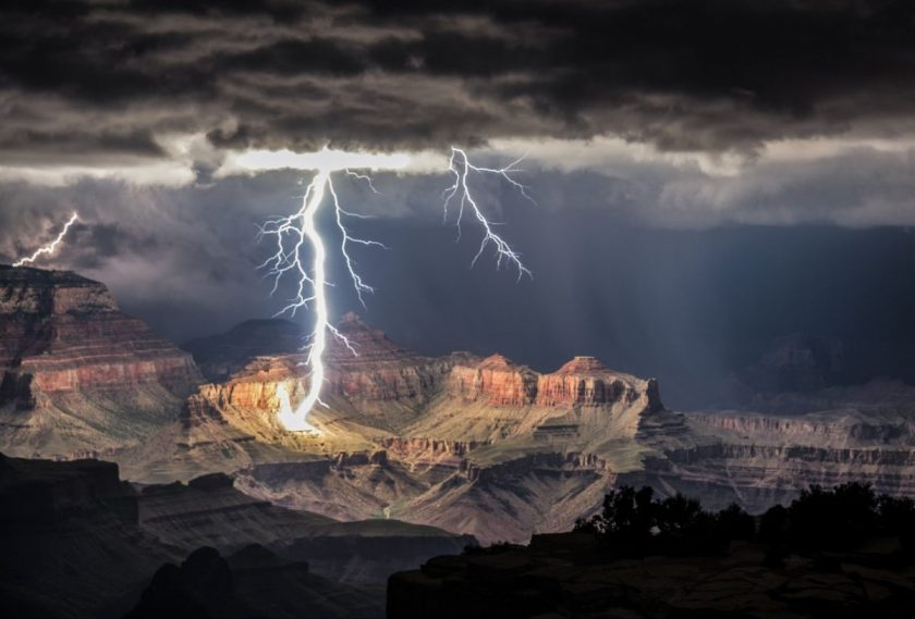 This picture was taken using a 25-second shutter speed in the Grand Canyon by photographer Rolf Maeder. Photo via Esquire.