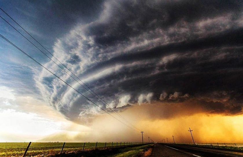 This photo was taken by a storm-chaser photographer as part of a series set in the USA's infamous Tornado Alley.