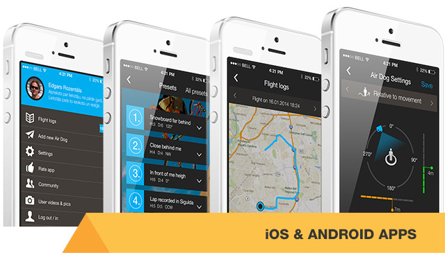 Helico have also developed a smartphone app to provide additional options. Photo from Helico.