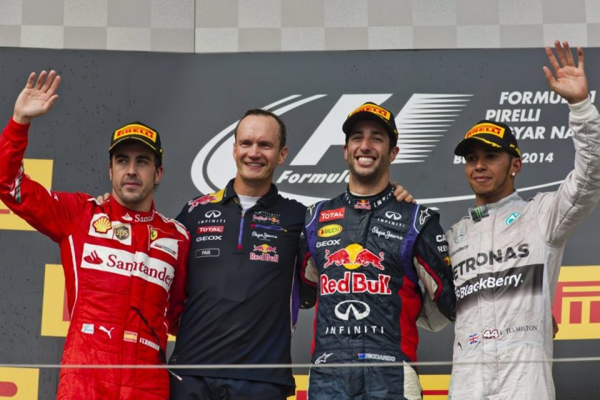 The podium. Photo: Getty Images/Red Bull Content Pool.