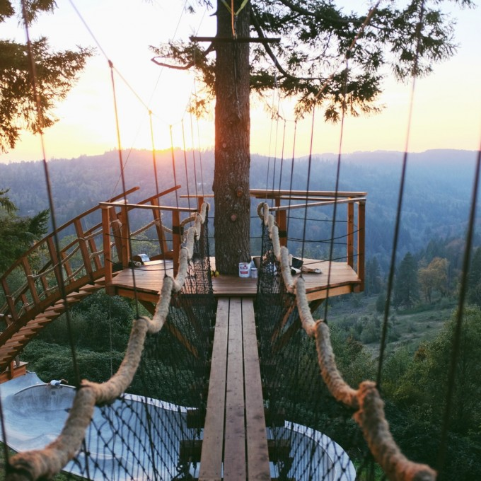 An Incredible Treehouse Complete With Skate Bowl And Hot Tub