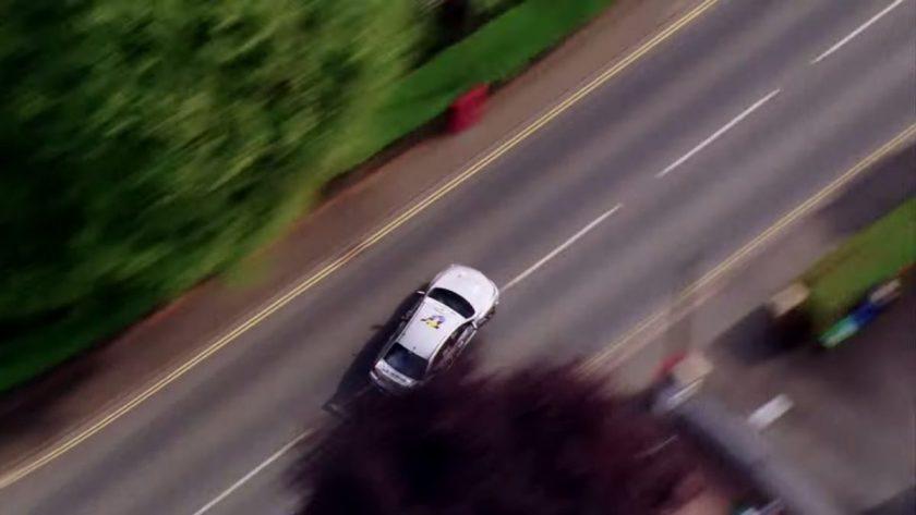 The Subaru WRX STI losing control through Bray Hill back in 2011. Screen grab from video.