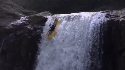 Paddling a Canoe over a 60 Foot Waterfall