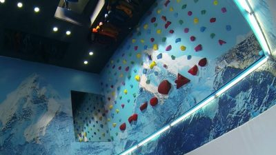 North Face Shop turns into Climbing Adventure