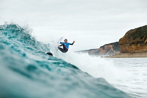 Stephanie Gilmore takes a runner-up finish at the Rip Curl Women's Pro Bells Beach. Image: WSL / Kelly Cestari