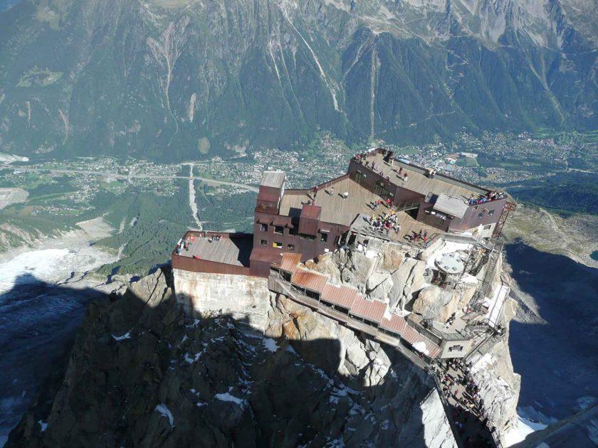 Chamonix below from 3,842 m on the Col du Midi. Photo: ADAPT Network