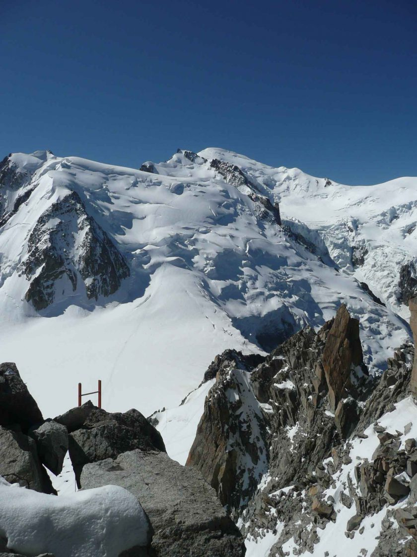 Mont Blanc—4,810 m of rock, snow, ice and dreams rises high above the town. Photo: ADAPT Network