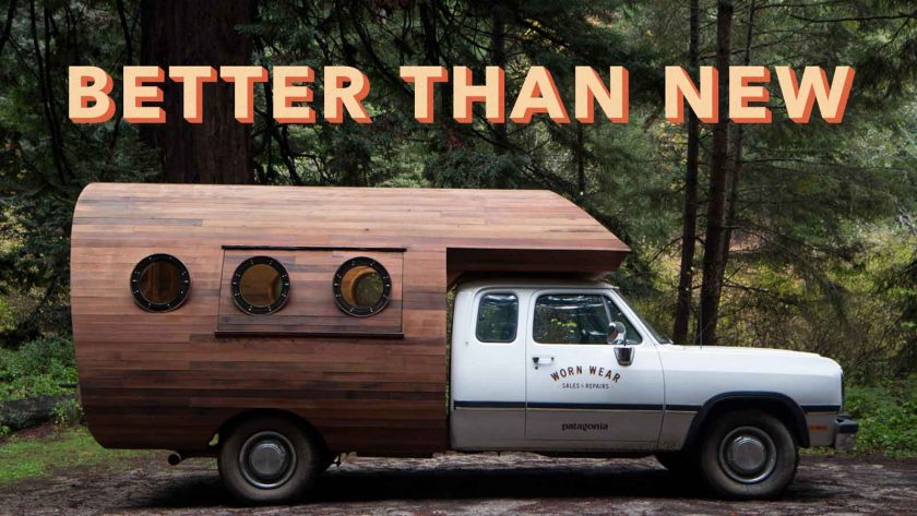 Patagonia's 'Worn Wear' repair center recently went mobile and toured the US. It will be back in the autumn. Photo from Patagonia