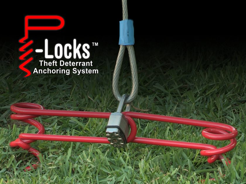 The security from P-Locks comes from it's unique dual counter-rotating screw design. Photo: P-Locks