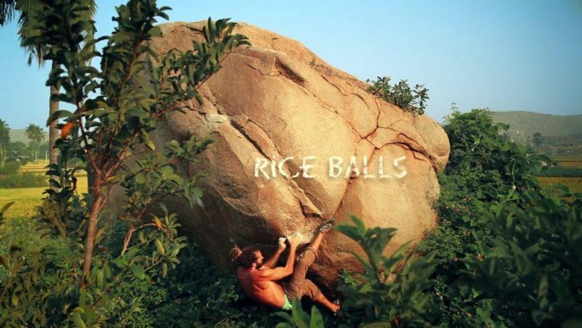 Hugo climbing 'Rice Ball'