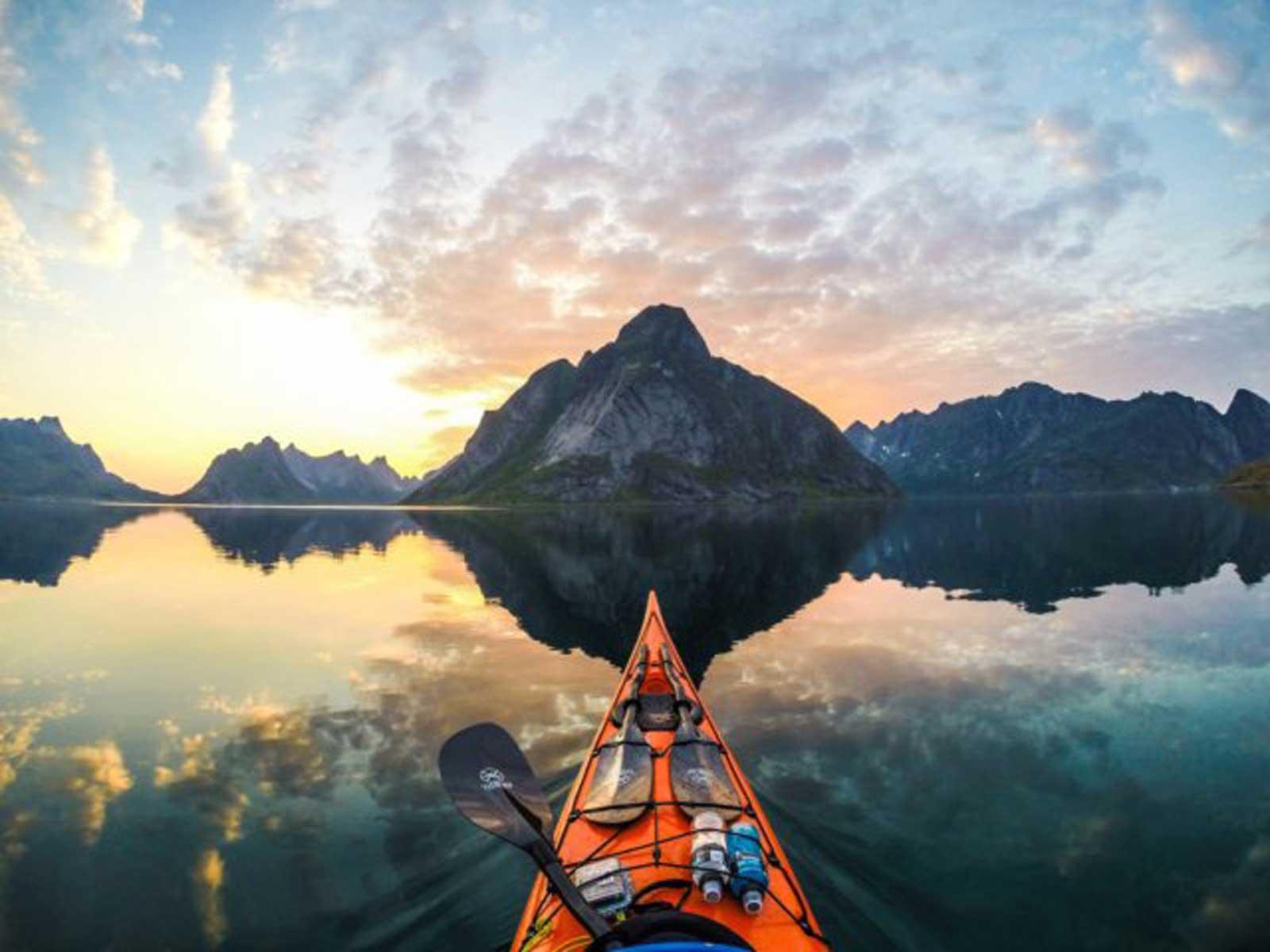 Breathtaking GoPro kayak photography of Norway's fjords