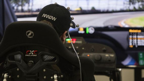 Sam Schmidt competes on the Watkins Glen short course in the iRacing.com Race of Champions. Photo: Courtesy Tim Considine Via ESPN