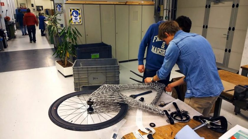 The Arc Bike being assembled. Photo: Screenshot from the video.