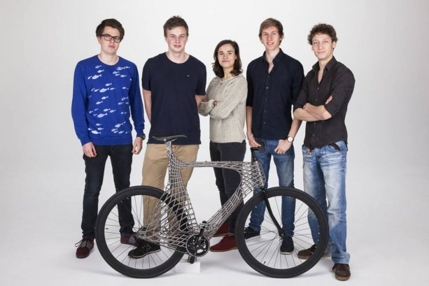 The Arc Bike team, from the Delft University of Technology in the Netherlands.