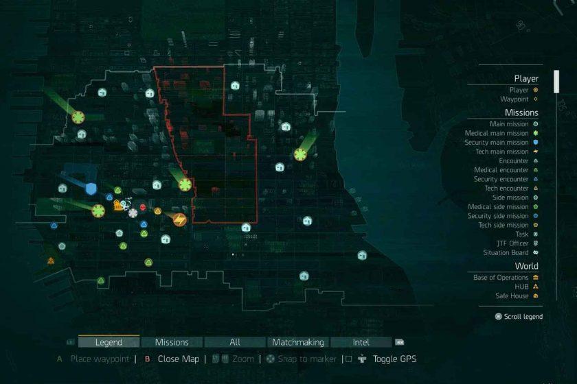 The Dark Zone map. Photo: Ubisoft