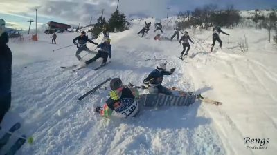 The biggest Skiing Crash at RedBull HomeRun 2016