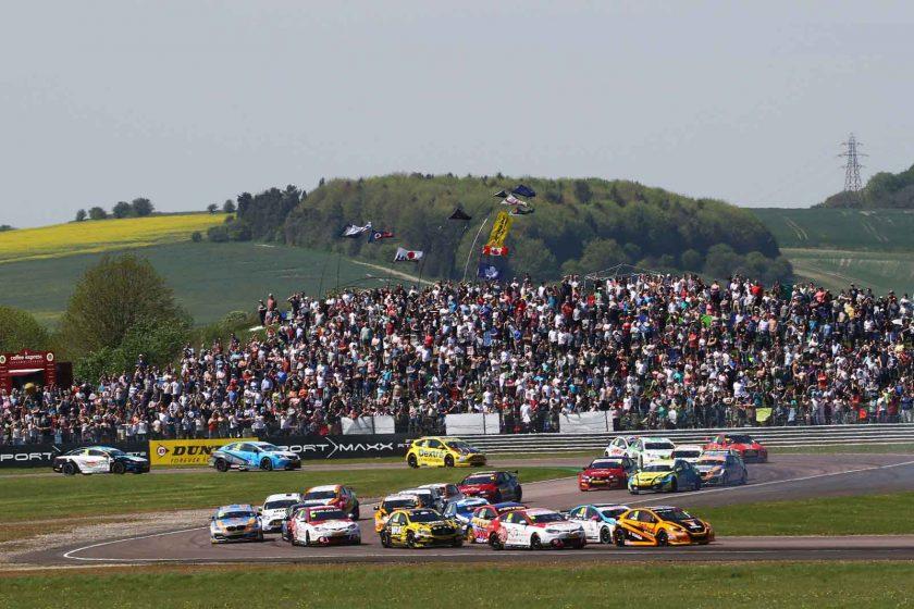 The BTCC grid wow the crowds in glorious sunshine. Photo: BTCC.