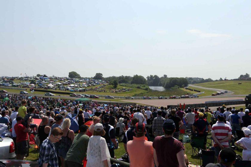Huge, festival-like crowds descended on a sun-drenched Oulton Park. Photo: BTCC