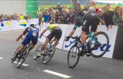 Video: Danny Van Poppel makes an insane Endo Save at the Tour de Suisse
