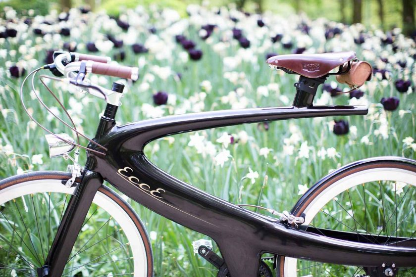 The Opus Cruise features accents in natural brown leather and chrome. Photo: courtesy ECCE Cycles