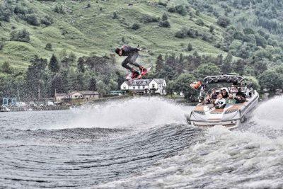 Wakeboarding in the Highlands at Loch Stock