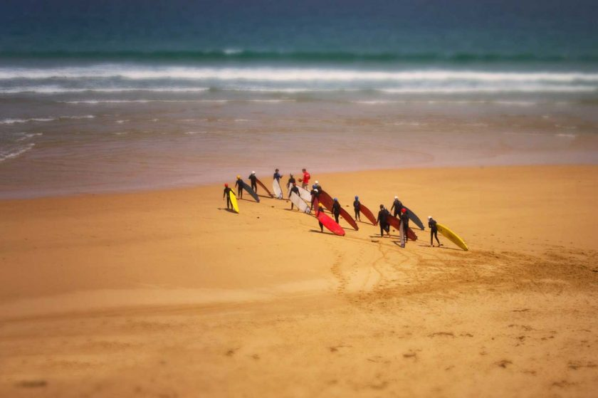 A surf school is a great way to learn how to surf and meet like-minded people. Photo: Flickr/palomine