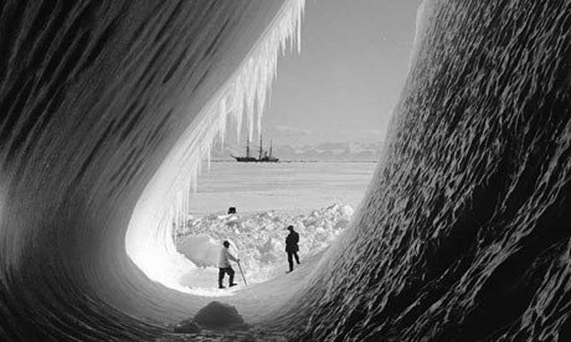 By Herbert Ponting, taken on the expedition Captain Scott and his Terra Nova team made to the South Pole © RGS-IBG