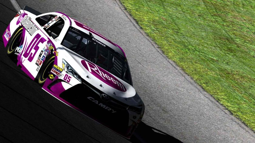 Our traditional Pink Rheem scheme covered the car in the season finale.