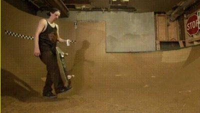 GIF: Sometimes the best Skateboarding tricks are the simple ones