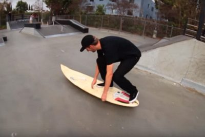 Video: These skaters just tried to kick-flip a surfboard, and it was awesome
