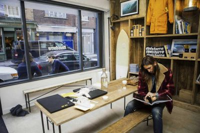 Finisterre's London shop.