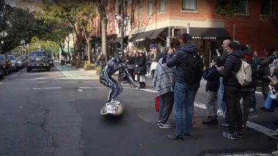 Video: And the best Surf-Themed Halloween costume goes to…NYC's Silver Surfer