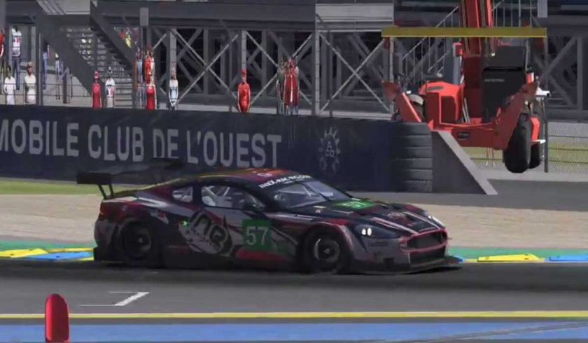 The ineX Racing Aston Martin DBR9 took the first half of a Le Mans double for the team.