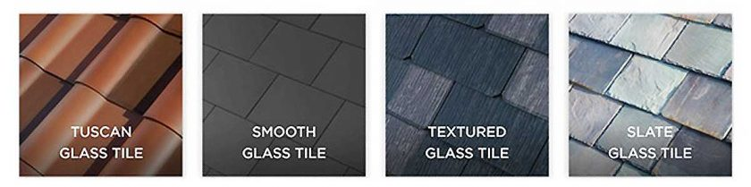 There are four styles that will be available: Textured Glass, Tuscan Glass, Slate Glass and Smooth Glass. Photo: Tesla