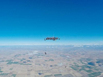 Video: Watch these 65 Women set an incredible Skydiving World Record