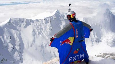 Russian base jumper flies from 7,700m in the Himalayas for a world's first