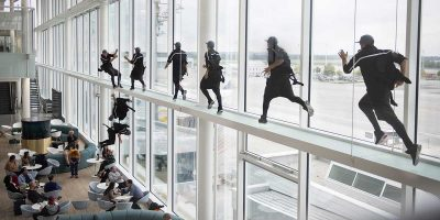 Video: Free runner takes inspiration from Jackie Chan for latest adventure in Munich Airport