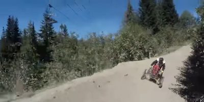 Video: The world's fastest mountain biker on 4 wheels