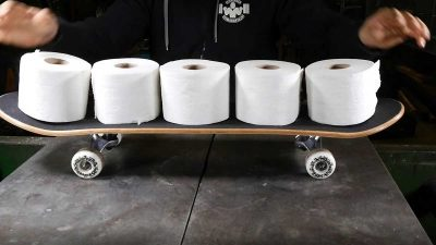 How to make a skateboard from toilet paper