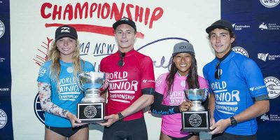 Ewing and Callaghan crowned World Junior Champions in Kiama, NSW