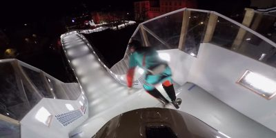 Video: This pro mountain biker just attempted the world's fastest sport on ice skates